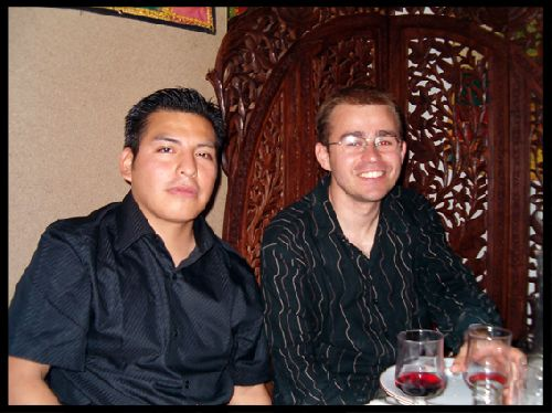 Carlos (guatemala) & Gildas (son pote)