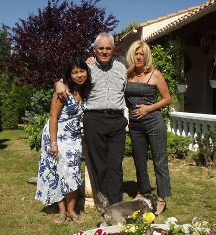 Maeva et ses parents, aujourdh'ui