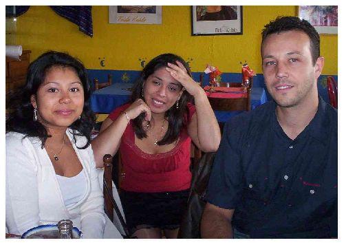 Maeva (Guatemala), Céline ( Perou) & Olive