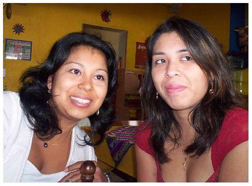Maeva (Guatemala) & Céline ( Perou)