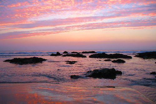Soir sur plage Bretonne