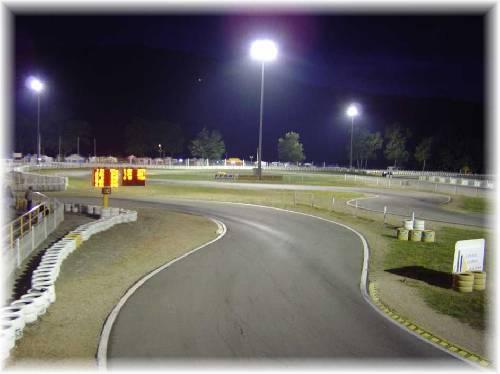 Le circuit Valentinois, de nuit