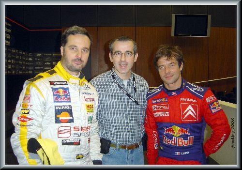 Y. Muller - S. Loeb (Race Of Champions / Wembley 2008) - Photo M-P. R.