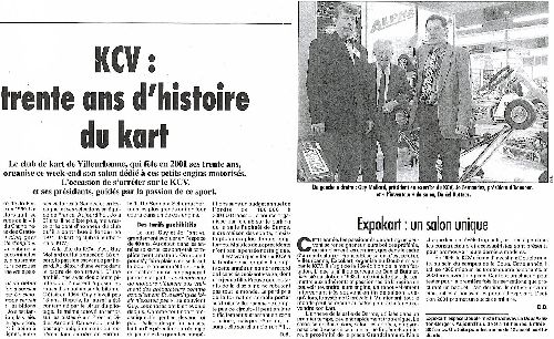 Les piliers du KCV (Expokart 2001 / Photo AsK Villeurbanne)