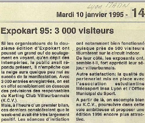 Expokart 1995 / Photo AsK Villeurbanne