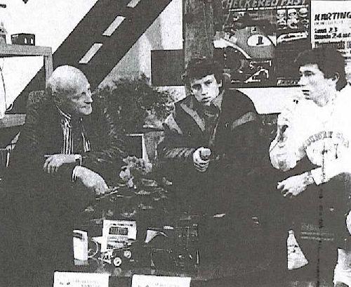 Les interviews du salon (Expokart 1990 / Photo AsK Villeurbanne)
