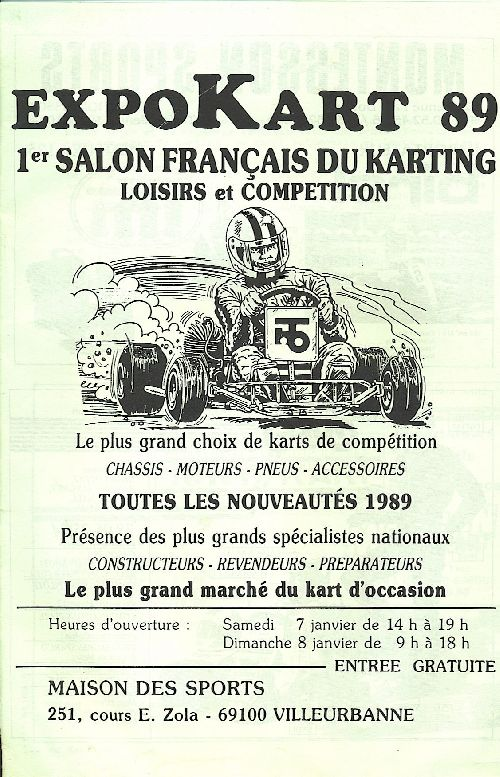 Expokart 1989 / Photo AsK Villeurbanne