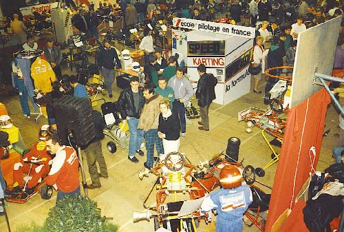 Les allées du salon (Expokart 1987 / Photo AsK Villeurbanne)
