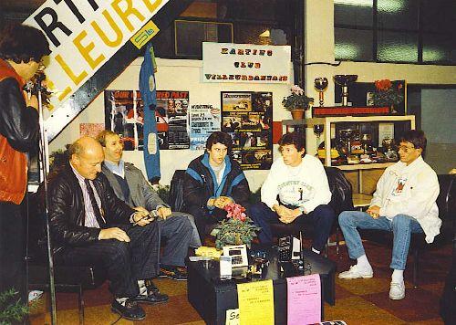 Les interviews su salon (Expokart 1987 / Photo AsK Villeurbanne)