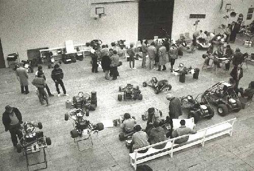 Le tout premier salon du Karting (Expokart 1983 / Photo AsK Villeurbanne)