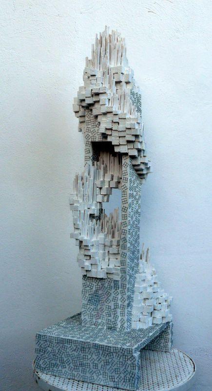 5.8.13/13 vestigios de ruina 30 cm x 35 cm x 100 cm
