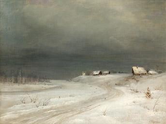 Peinture de Alexei Kondratievitch Savrassov (1830-1897)