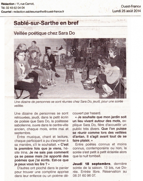 Article Ouest France Jardin péotique sara Do.jpg