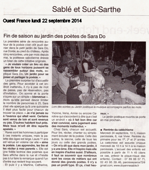 Oues France Sara Do Lundi 22 septembre 2014.jpg