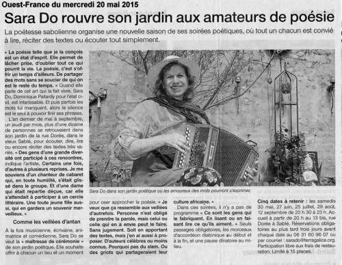 Ouest France jardin poétique Sara Do 20 mai 2015.jpg