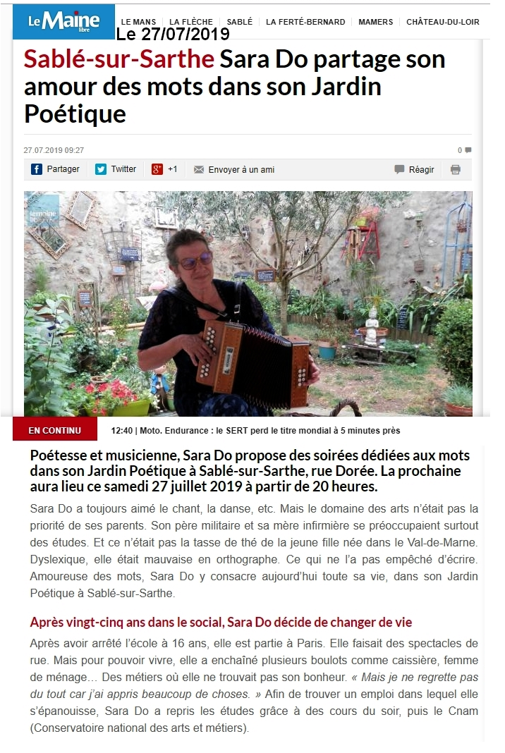 1 Sara Do Maine libre du 27 juillet 2019.jpg