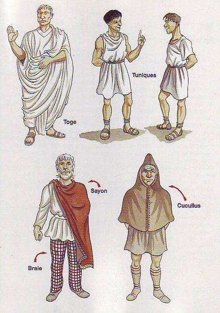 les vêtements des gallos romains