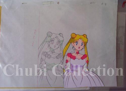Sailor moon déguisée pour un bal ..