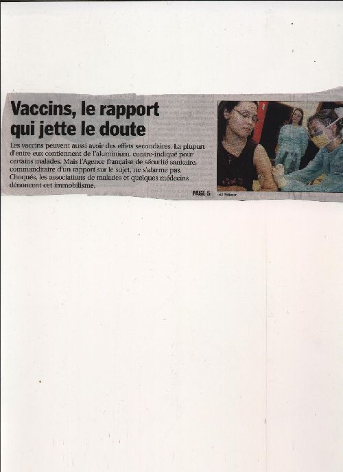Vaccin (article Le Progrès 05-07-04)