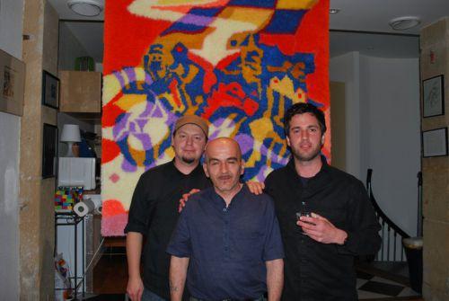 Inauguration fresque mural de Todd Scalise pour Christian schmitt - Lepolsk MATUSZEWSKI  et  F.Garieri