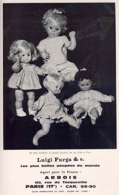 Poupées Furga vendues en France en 1965 / Furga dolls sold in France in 1965