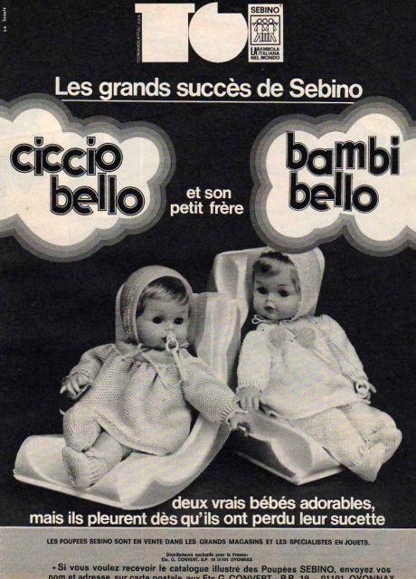 Ciccio bello et Bambi belle par Sebino 1974
