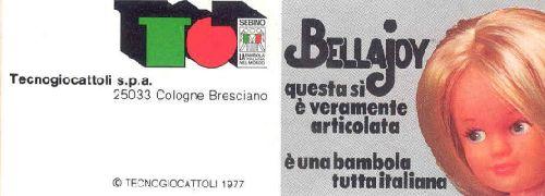Couvertue du catalogue BellaJoy de 1977