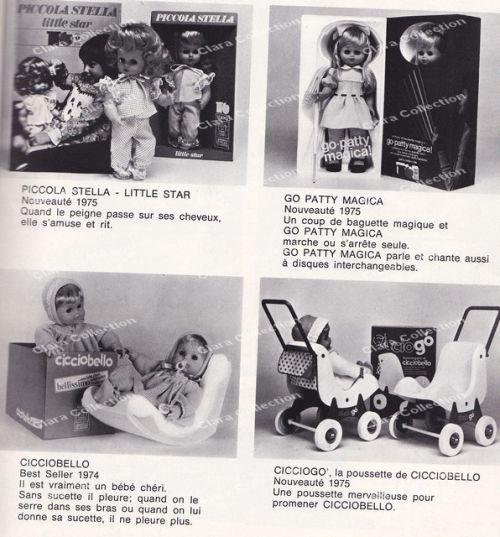 Les nouveautés Sebino 1975