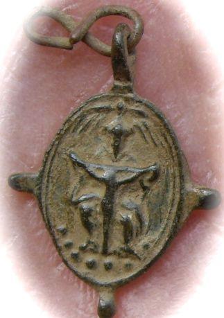 St-Augustin d'Hippone & Scène de la crucifixion - XVIIème
