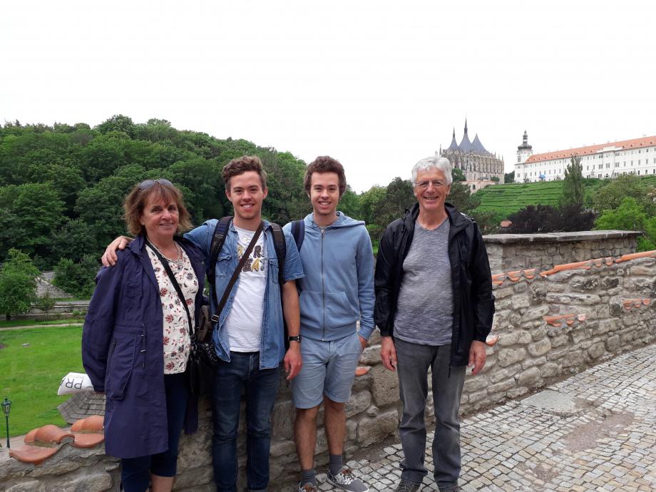 La visite de mes grands-parents et de mon frère Arthur durant 1 semaine.