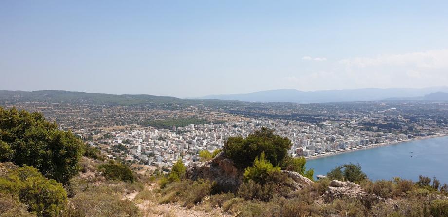 Vue panoramique sur Loutraki