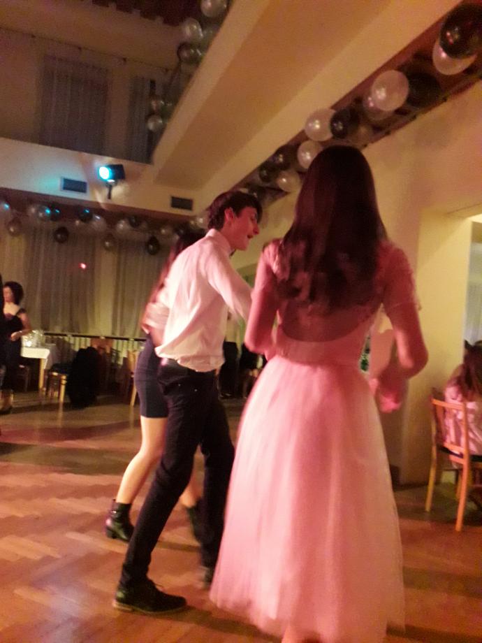 Le bal traditionnel de début d'année au centre culturel de la ville M-Klub