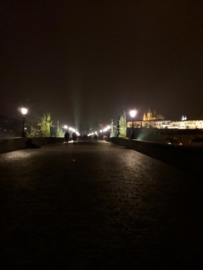 Le pont Charles de nuit :)