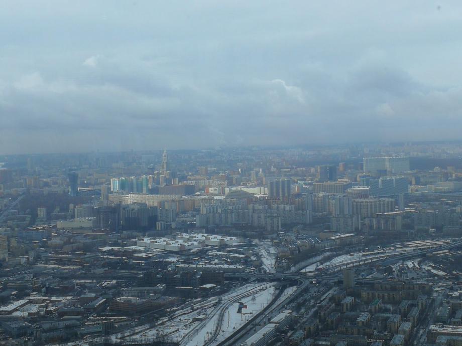 Moscou vu depuis la tour TV.