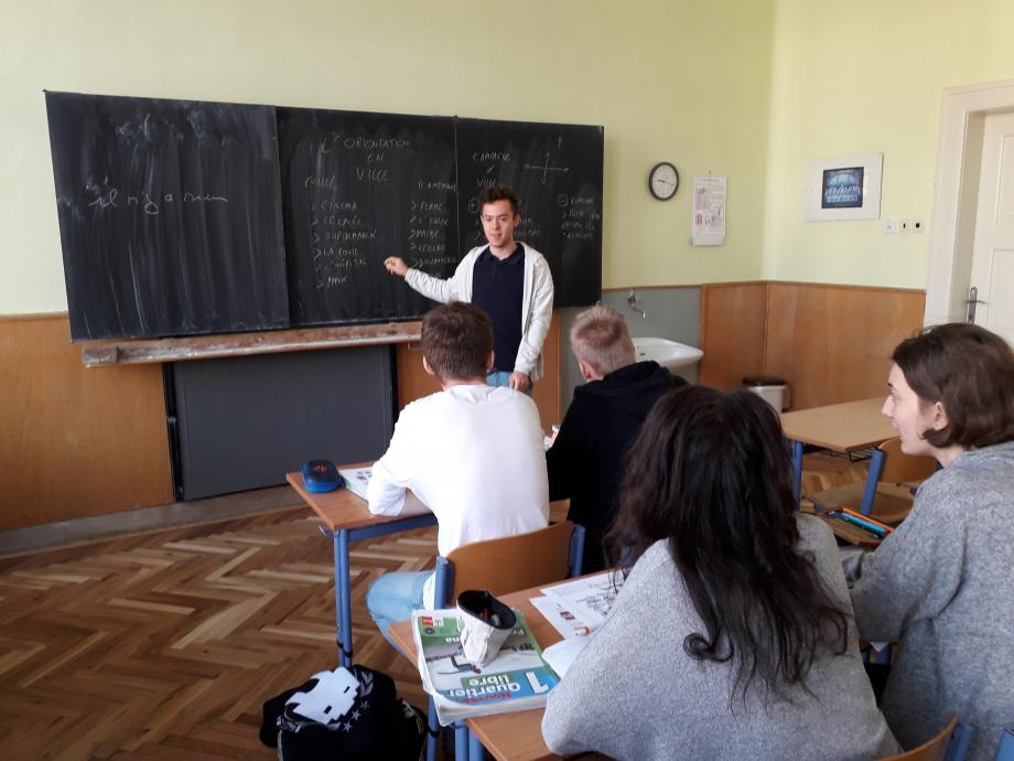 Mon cour de Français au lycée de Litomysl.