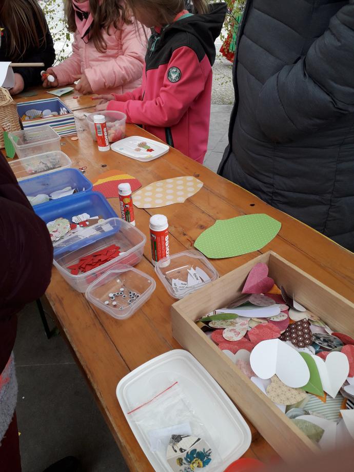 Notre atelier art plastique pour enfants. Réalisation de