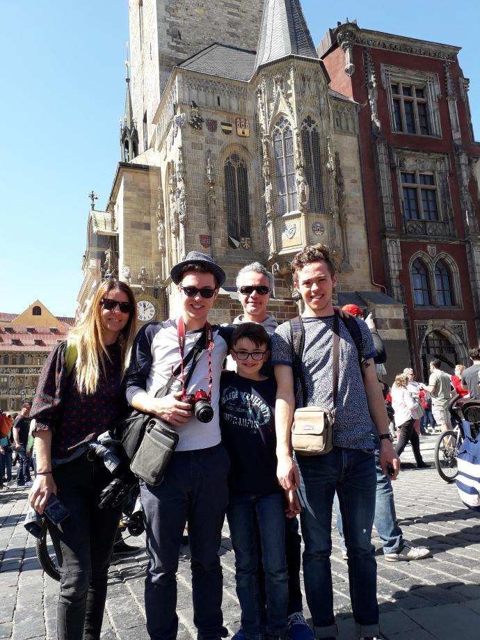La famille à Prague :)