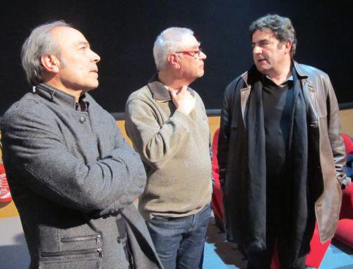 Michel Brazier et Patrice Vennégueus ( (Chlorofilm) avec  Romain  Goupil.