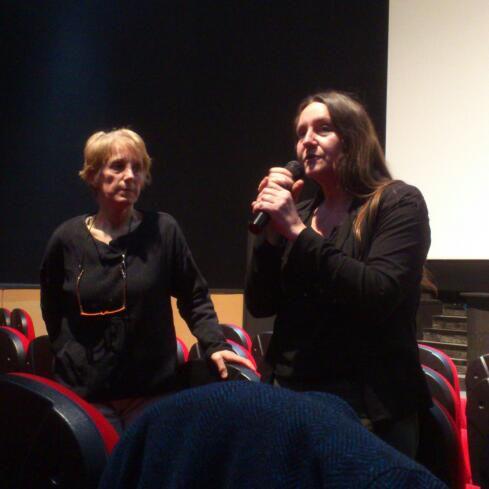 Gwénola  Samson , Chlorofilm ,   et   Sonia  Larue  , cinéaste , présentent les trois films  programmés :