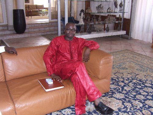 FJA à la résidence du Président Houngbédji à Porto Novo