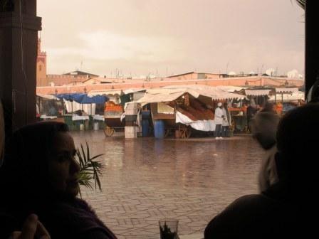 Arrivée à Marrakech sous la pluie
