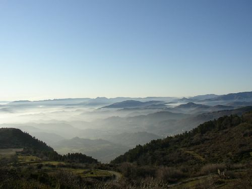 Aubenas sous le Brouillard