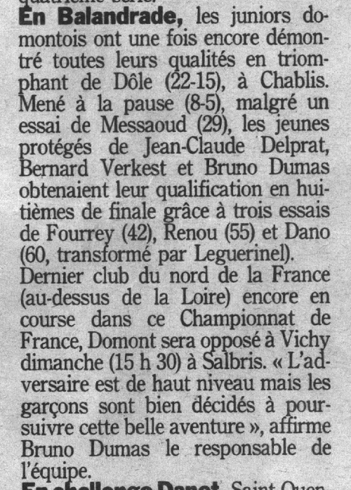 Rugby Domont