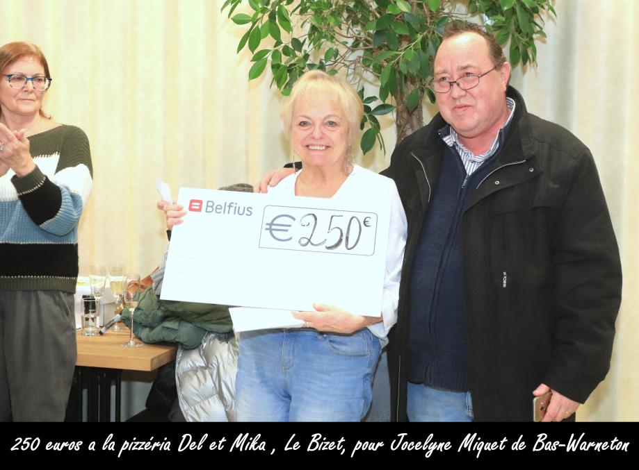250 a la pizzéria Del et Mika du Bizet