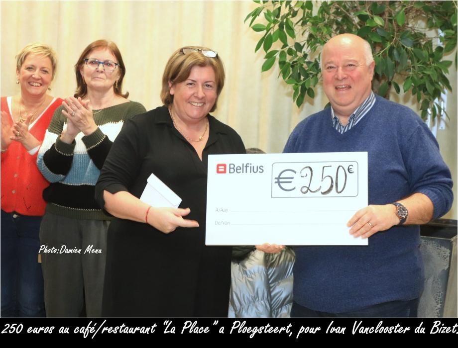 250€ au café restaurant la Place a Ploegsteert