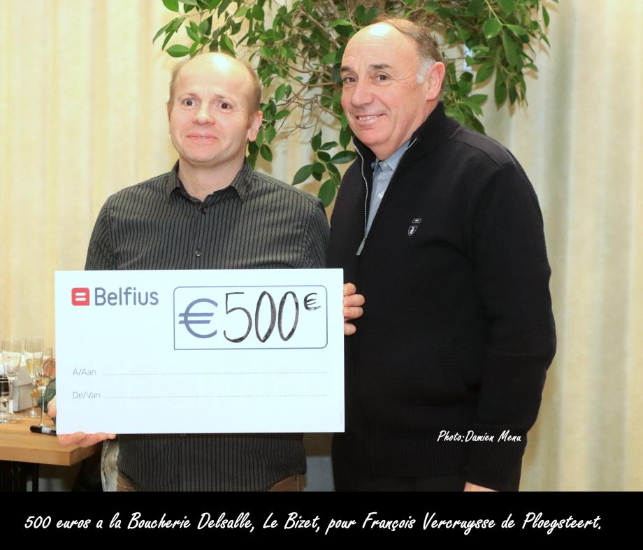 500€ a Boucherie Delsalle Le Bizet