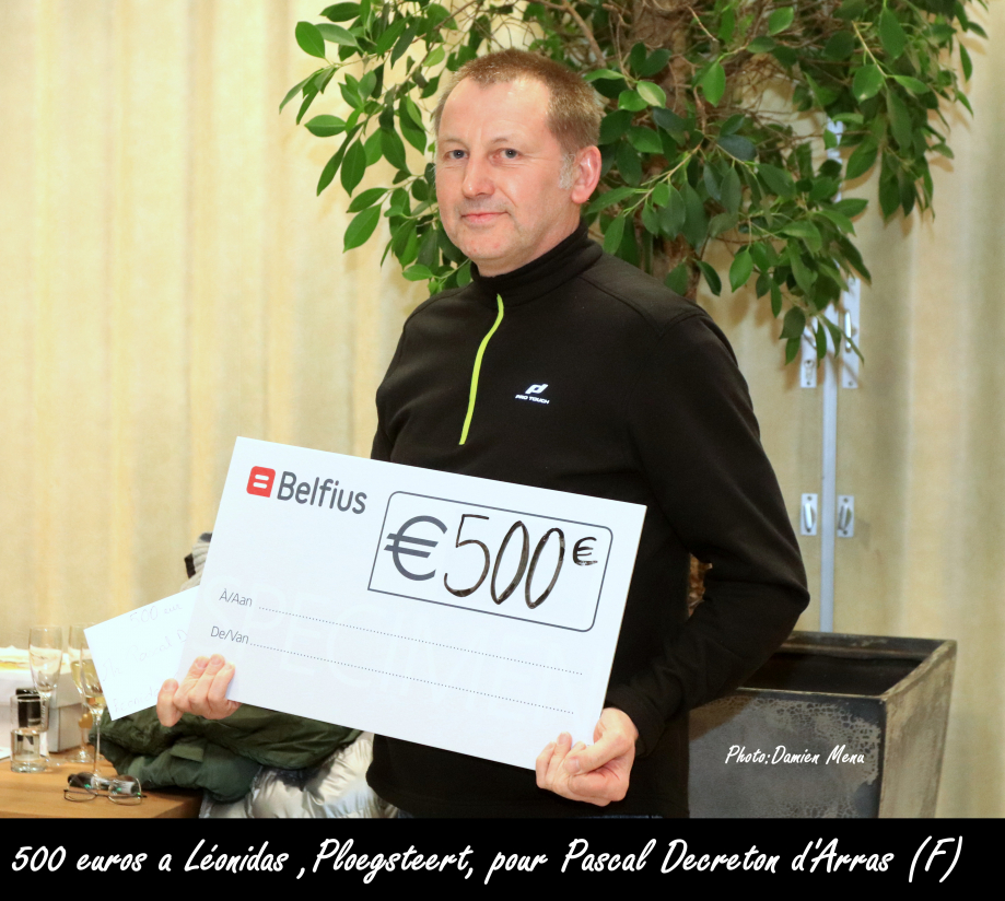 500€ a Léonidas Ploegsteert