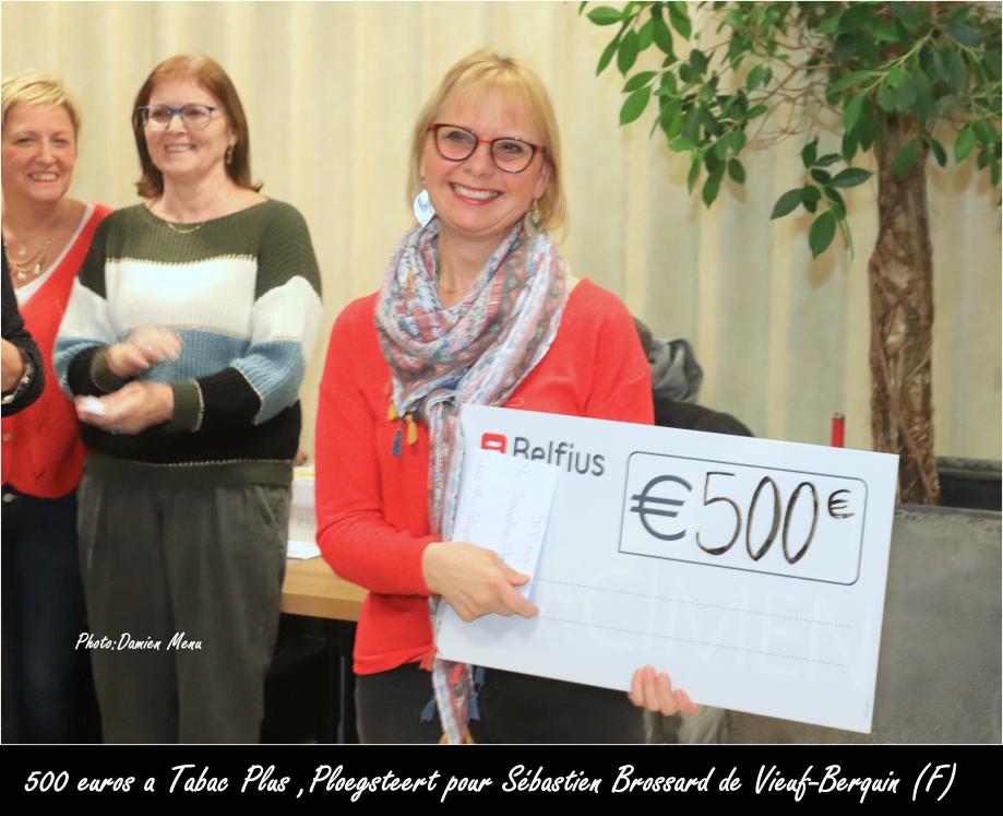 500€ a Tabac Plus, Ploegsteert