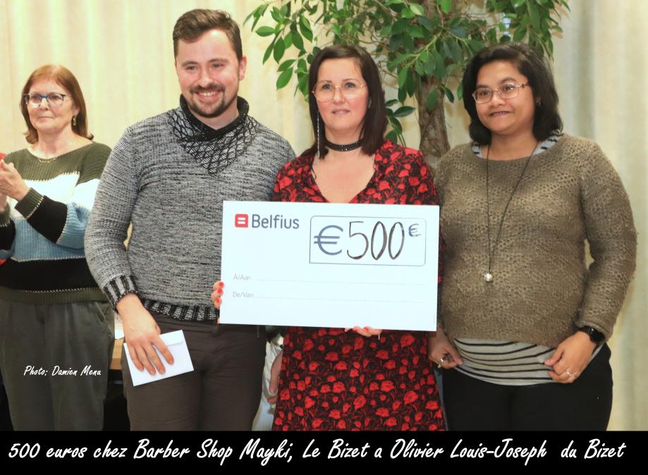500€ chez Barber Shop Mayki Le Bizet
