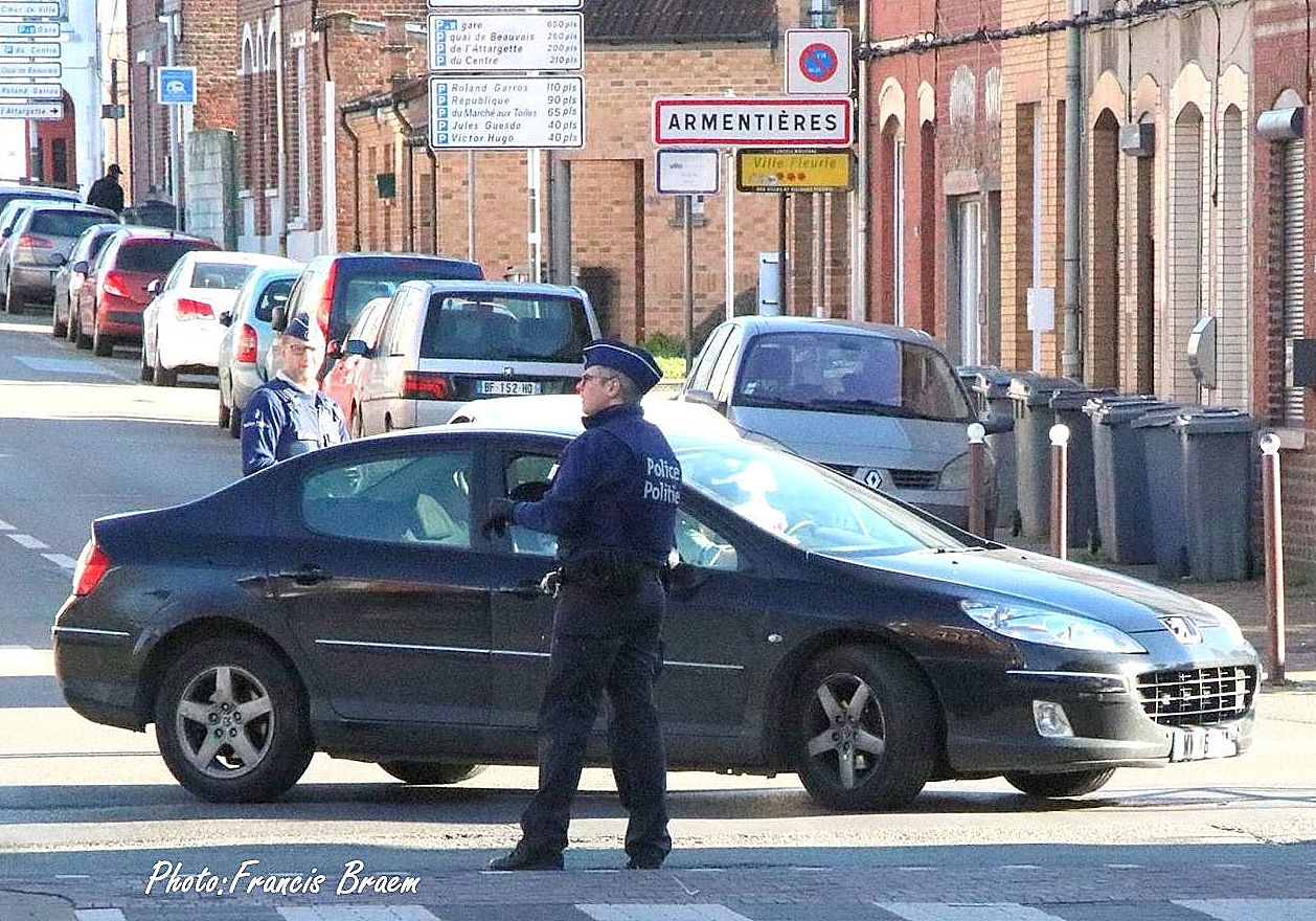 Blog police belge frontière Bizet mercredi 18 mars photo Francis